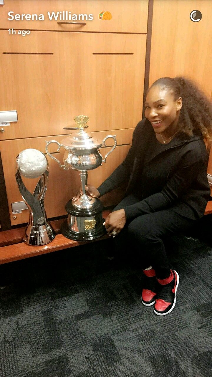 583 best serena williams images on pinterest alexis ohanian venus world number 1 trophy 23 grand slam trophy serena williams australian open 2017 nvjuhfo Image collections