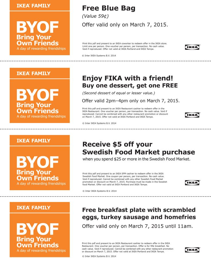Ikea discounts and coupons