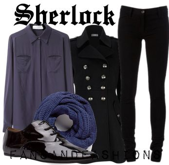 sherlock bbc!  except for the shoes, I would wear this.