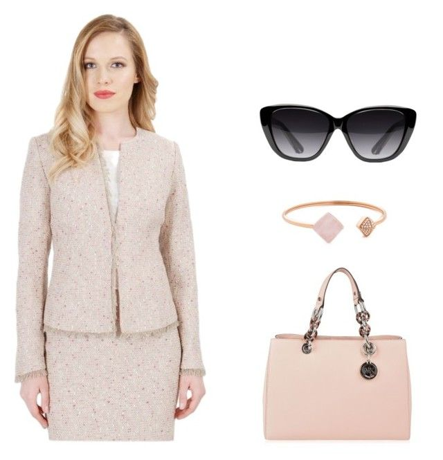 """Delicate shades by YOKKO"" by yokko-the-fashion-store on Polyvore featuring MICHAEL Michael Kors, Elizabeth and James and Michael Kors.  #yokko #yokkoromania #spring #office #pink #nudepink #elegance #ss16 #spring2016"