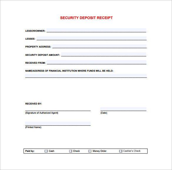 down payment receipt – Down Payment Receipt Template