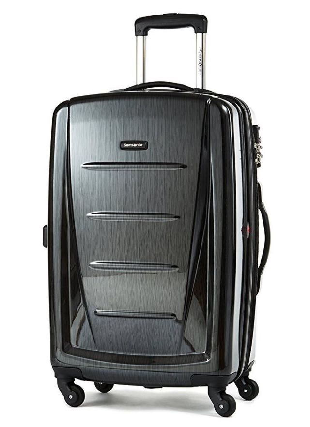 Lightweight Luggage .. top-rated carry-on is light and easy to lift, has 10 zippered compartments on the inside and has a shell that hides scuffs.