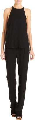 Just in: A.L.C. Joanna Jumpsuit!  A little background on the designer:  After graduating from the esteemed Parsons School of Design, New York-based stylist Andrea Lieberman worked with both Gwen Stefani and Jennifer Lopez before starting her label in 2008. Her collections focus on effortlessly refined pieces with wear-anywhere appeal. Look out for pleated maxi skirts and body-con mini dresses.