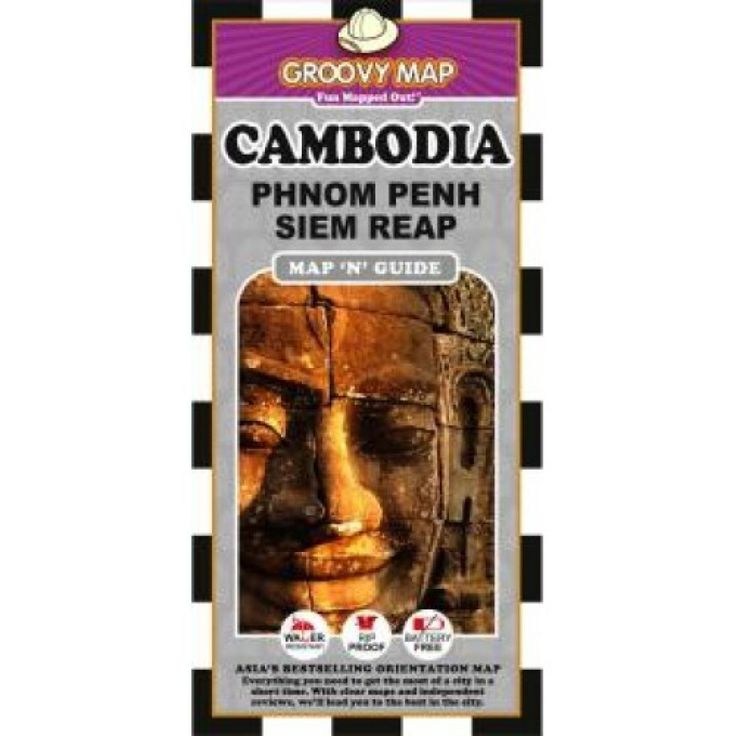 Cambodia, Phnom Penh and Siem Reap, Map n Guide by Groovy Map Co.