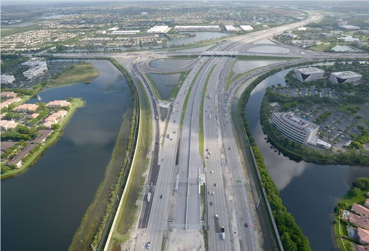 Florida South, Miramar, Florida Interstate 75 new express lanes.