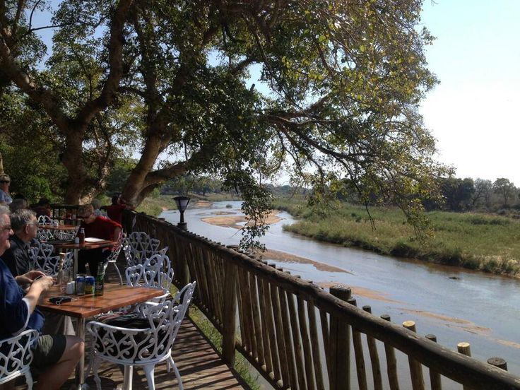 Lunch on the deck, at the Skukuza camp, overlooking the Sabie River in the Kruger National Park