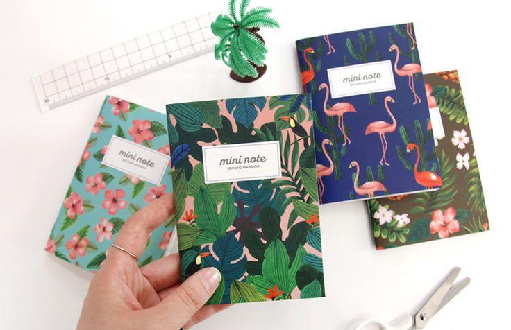 Mini Pocket Notebook, giungla foglie, ananas, Notebook Flamingo, carta Notebook, materiale scolastico, modello Notebook di copertura di CaribouMilk su Etsy https://www.etsy.com/it/listing/514340123/mini-pocket-notebook-giungla-foglie