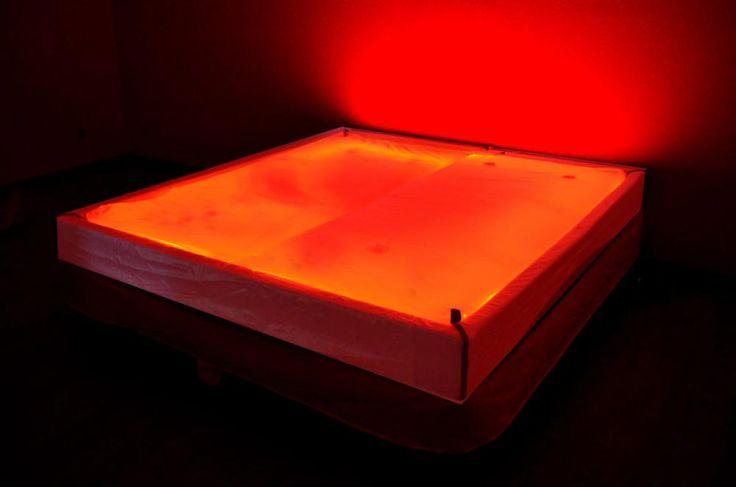 Wasserbett led  Transparent Waterbed Traumreiter Durchsichtiges Wasserbett ...