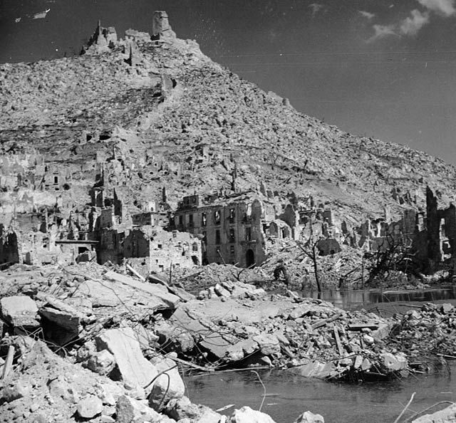 In an epic battle American soldiers - then British, Indian, New Zealanders, Polish, and French - clawed their way up the flinty slopes of 1700-ft Monte Cassino.