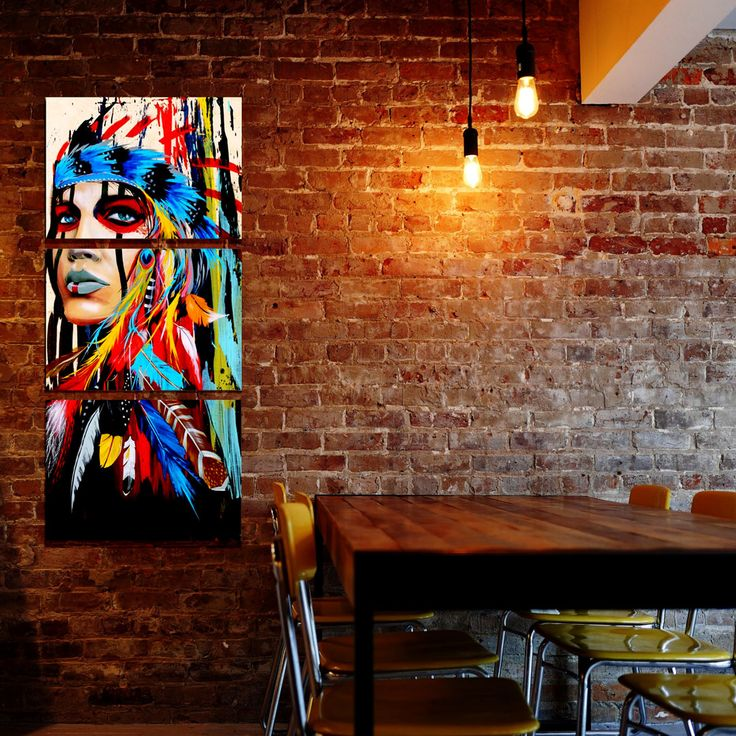 Powerful native american canvas to stand out! WOW  -Canvas