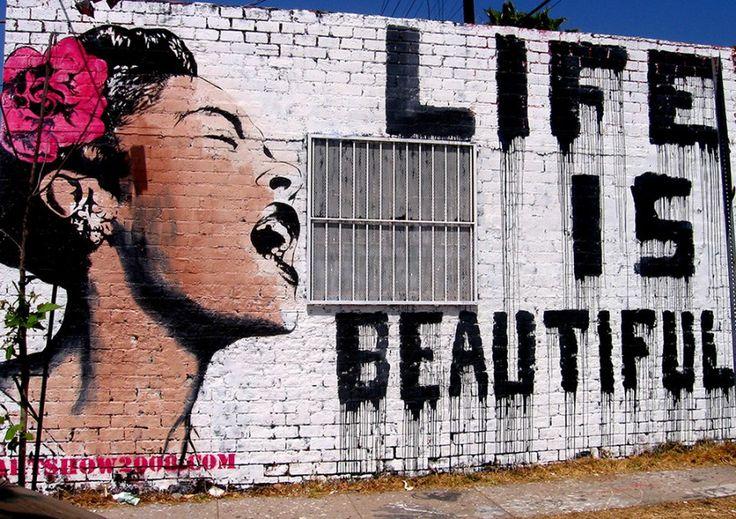 Life is beautiful, Banksy,  Banque de l'image