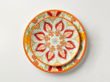 anthropologie sliced persimmon salad plates dinner plates and bowls.  sc 1 st  Pinterest & 185 best Painting Pottery images on Pinterest | Ceramic painting ...