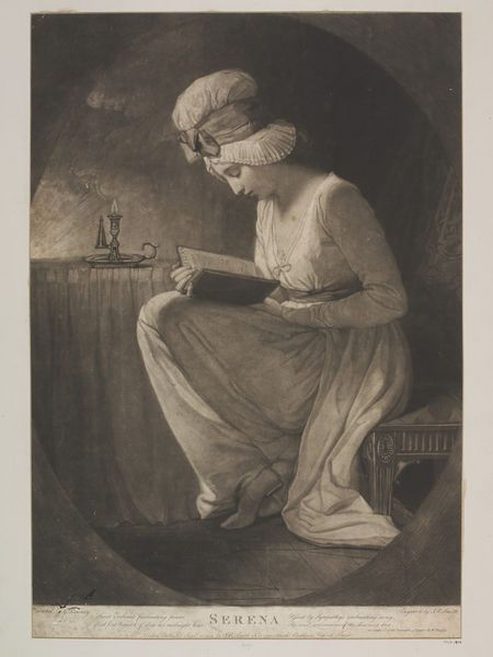 Serena, Smith, John Raphael, 1782, Mezzotint on paper. Bequeathed by Rev. Alexander Dyce. l Victoria and Albert Museum