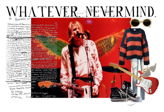 """Whatever"" by veronicayoulooklikehell ❤ liked on Polyvore featuring Wet Seal, Converse, CC SKYE, Chloé and kurt cobain"
