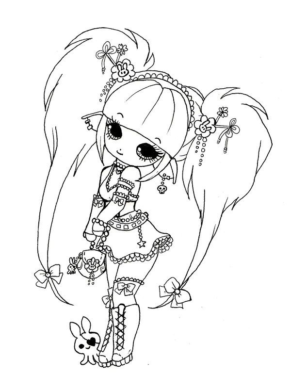chibi melody coloring pages - photo#18