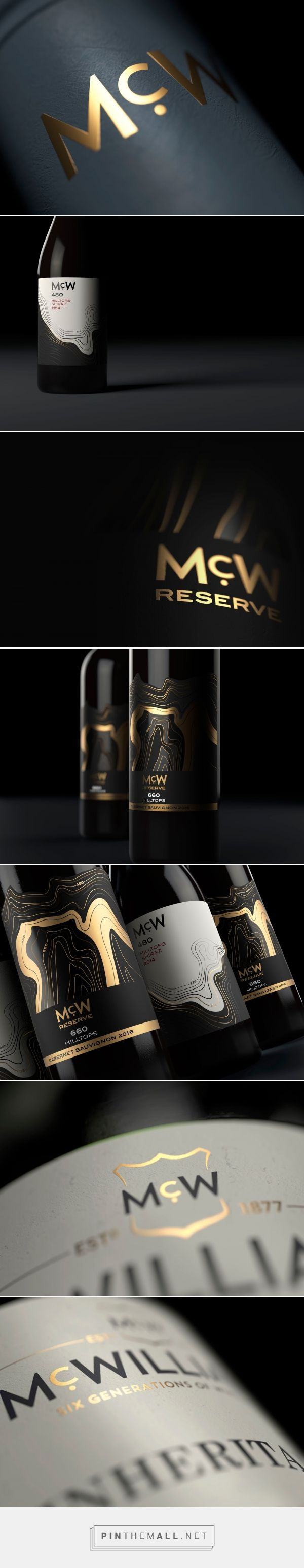 McWilliam's Wines 'McW' packaging design by JDO - http://www.packagingoftheworld.com/2017/09/mcwilliams-wines-mcw-range.html