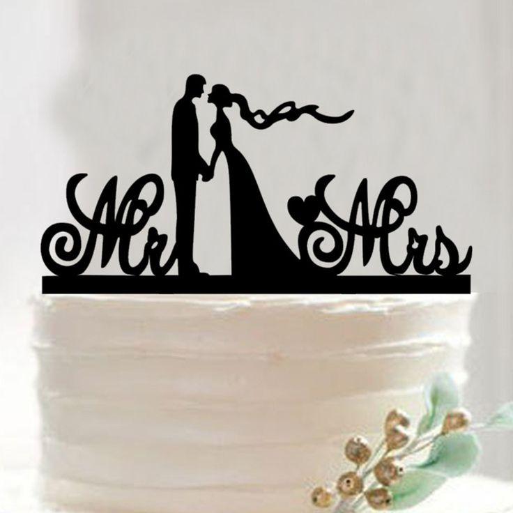 Free Shipping Mr Mrs Acrylic Wedding Cake Topper/Wedding Cake Picks/Wedding Party Decoration /Custom Wedding Cake Accessory