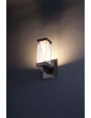 the vortex led luminaire from new wac lighting company modern forms features a mitered glass enclosure around a pressed glass centerpiece that speaks - Modern Forms Lighting