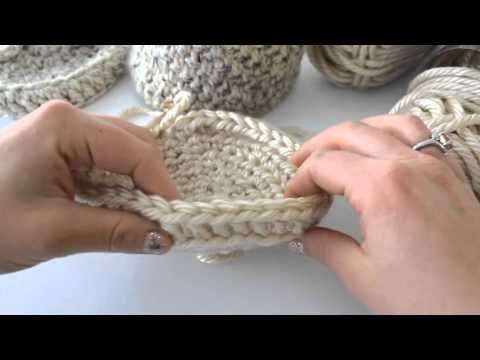 Bulky Crochet basket - YouTube