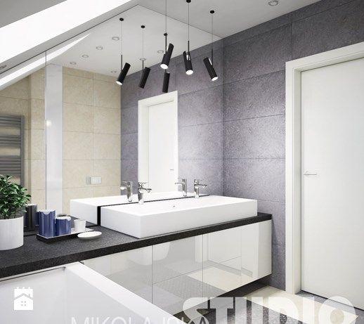 Projekt łazienki-naturalne kolory, materialy - zdjęcie od MIKOŁAJSKAstudio