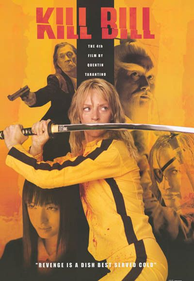 Kill Bill Revenge Is A Dish Cast XL 37x53 Giant Poster