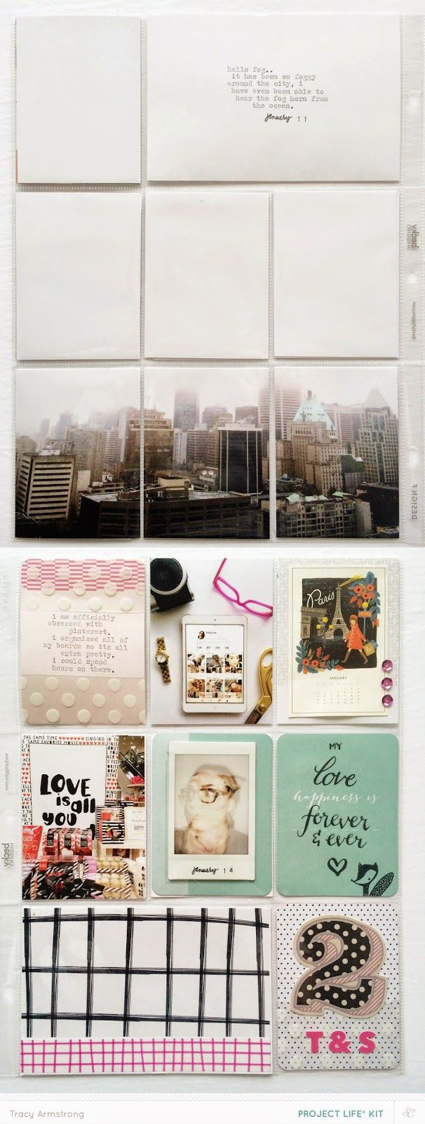 How to scrapbook with project life - Studio Calico Cirque Project Life Kit The Single Girl S Scrapbook