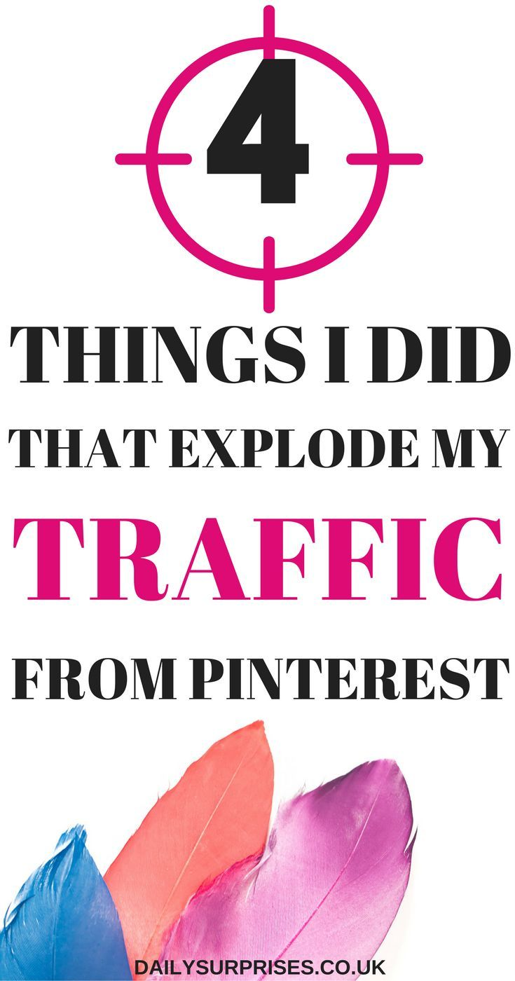 Want to know what 4 things I did that completely exploded my traffic from Pinterest? You would be surprised by how easy it can be done and you can do it too! You just need to find and use the correct strategy. Click on the pin to find all the Pinterest ti