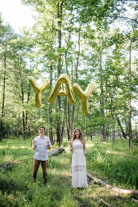 34 YAY Letter Balloons  Giant Gold Letters 1st by brightsoslight