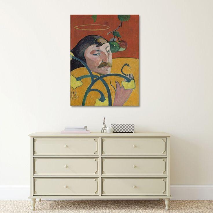 Reprodukcja obrazu P. Gauguin – Autoportret, Obraz na płótnie - Canvas