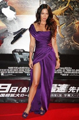 Celebrity Dresses Megan Fox Sexy Purple Evening Dress Premiere of Transformers 2 in Tokyo - TheCelebrityDresses