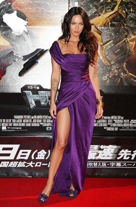Celebrity Dresses Megan Fox Sexy Purple Evening Dress Premiere of Transformers 2 in Tokyo - TheCelebrityDresses
