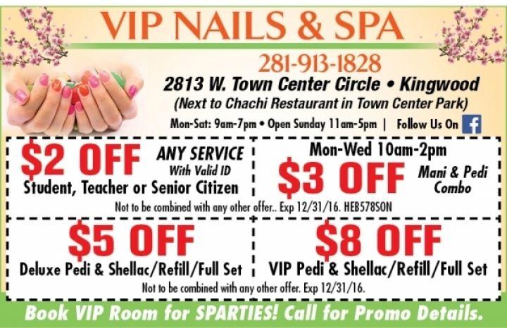 VIP Nails & Spa Coupon