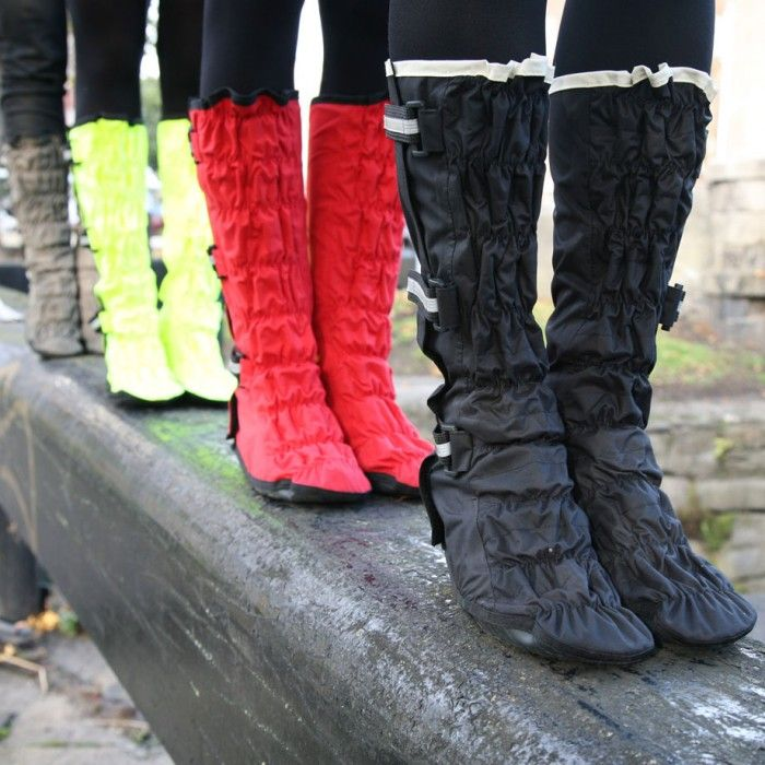 The funkiest way to keep your feet dry and #bright around town! #cycle #chic