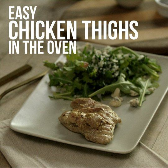How To Make Chicken Thighs in the Oven ~ This'sforyou