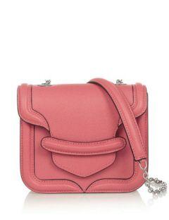 ALEXANDER MCQUEEN The Heroine mini textured-leather shoulder bag