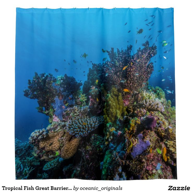 This beautiful shower curtain features the schools of abundant tropical fish and amazing corals found in the Coral Sea on Australia's Great Barrier Reef that are in need of our protection before they disappear.
