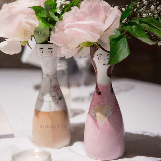 Monila handmade,dipinto a mano,vaso,porcellana,personalizzato,wedding,sposi