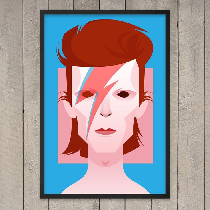 This bold Bowie Print will light up any room.  Giclée print on Archival Quality 300gsm Silver Gloss Brilliant Museum Paper. Please allow 1-2 weeks for shipping.