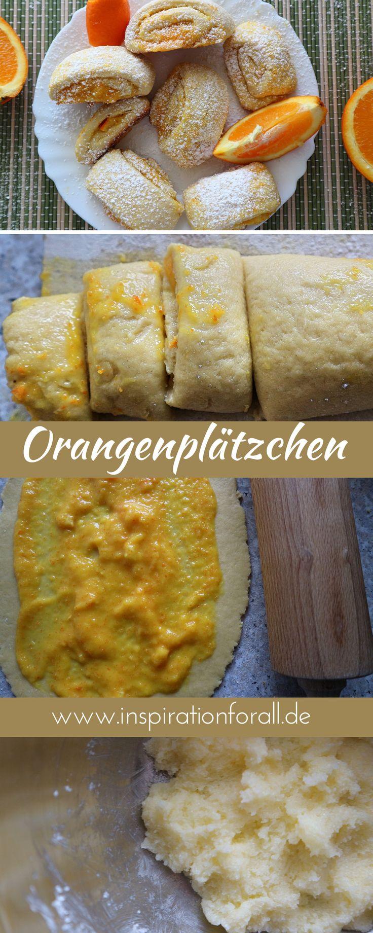 Orangen-Röllchen – Rezept für zarte Kekse mit fruchtiger Füllung