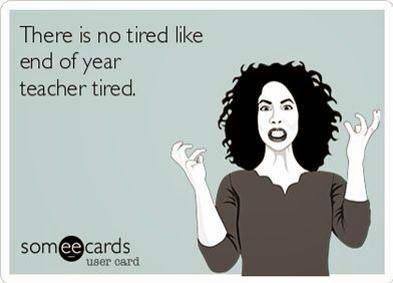 There is no tired like end of year teacher tired. Via NoodleNook.Net from