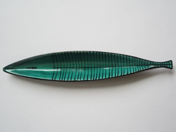 Vintage Fish Dish Italy Mid Century by NeatoKeen on Etsy