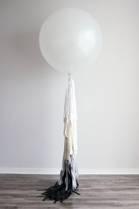 Fancy Frill / Tassel Balloon - Zoe on Etsy, $54.90