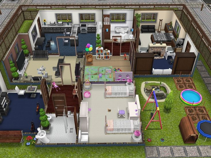 Best sims house layout