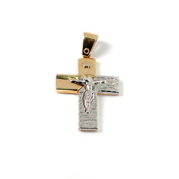Σταυρός  δίχρωμος χρυσό Κ14  7860