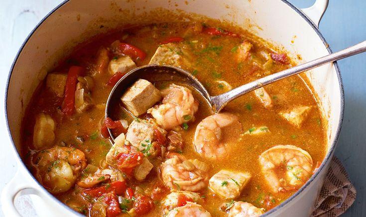 Shrimp and Swordfish Curry