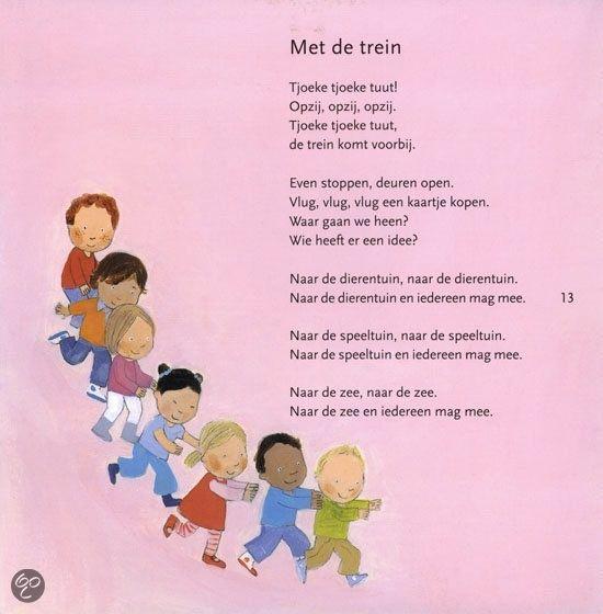 """Treinen: versje of liedje op het wijsje van """"We maken een kringetje voor jongens en voor meisjes"""" :):"""