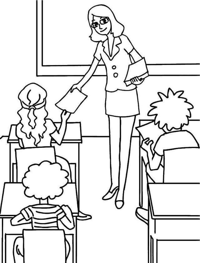 Pin By Illustration Designer On Pro Zabavu Deti School Coloring Pages Coloring Pages Teachers Day Drawing