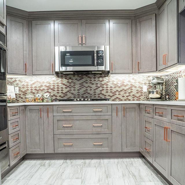 Best Grey Fabuwood Kitchen Cabinets With Copper Hardware 640 x 480