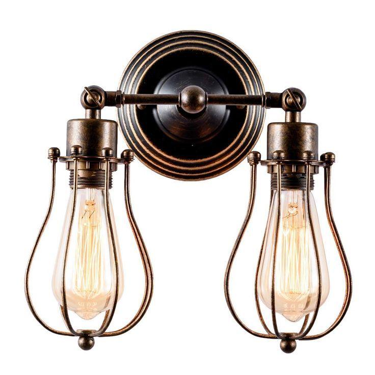 Werbung. Retro Wandlampe im Industrial Style. Schöne Lampe im Industrie Stil für Wohnzimmer ...