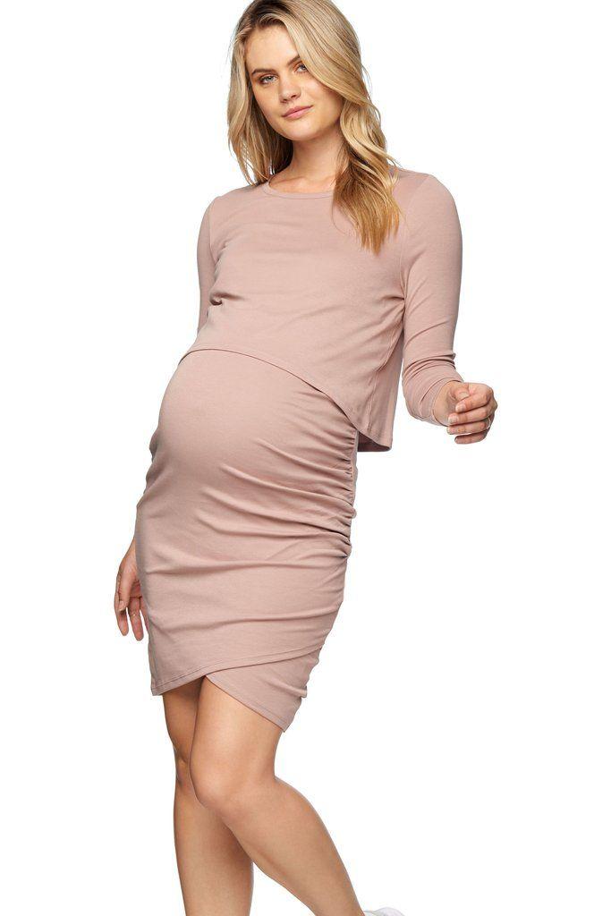 bae0ee89aedcb Long Sleeve Nursing Dress - Maternity Dresses – BAE The Label Australia